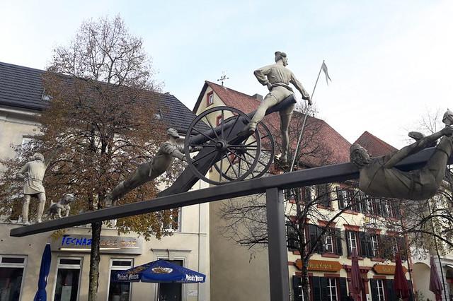 Die Badische Revolution ... Skulptur von Peter Lenk ... Schopfheim ... Foto von Volker