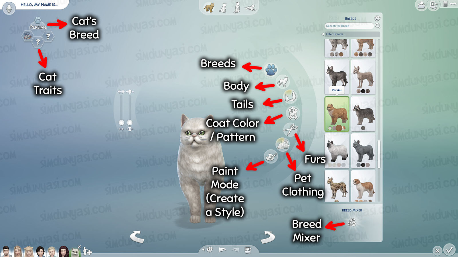 The Sims 4: Cats & Dogs Create a Pet Cats 1