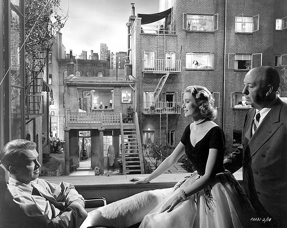 1954 Grace Kellly James Stewart Y Alfred Hitchcoc La Vent Flickr