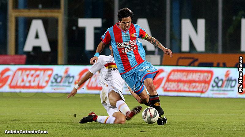 Marco Biagianti in azione contro il Catanzaro nella scorsa stagione