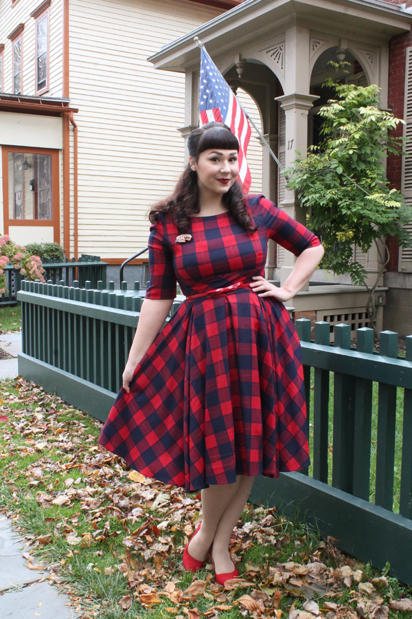 the pretty dress company plaid hepburn swing dress