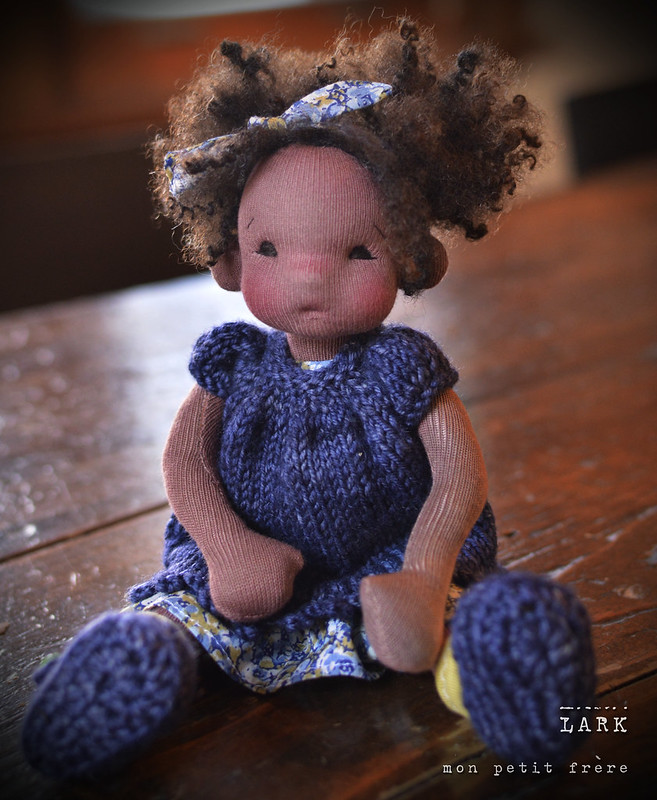 "Lark-9"" natural fiber art doll by Mon Petit Frere"