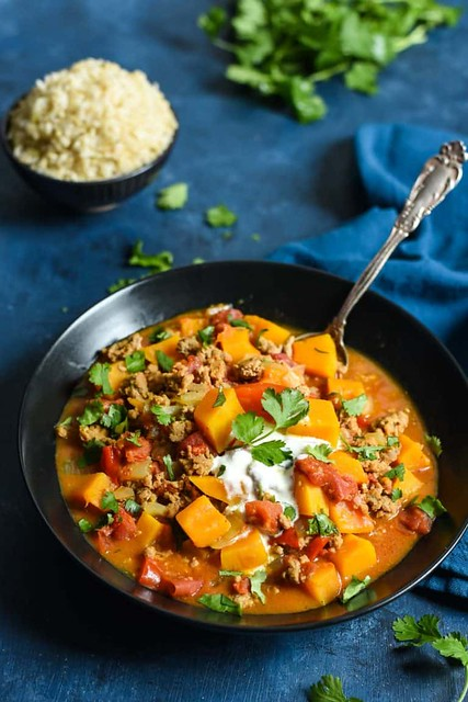 Turkey and Butternut Squash Curry