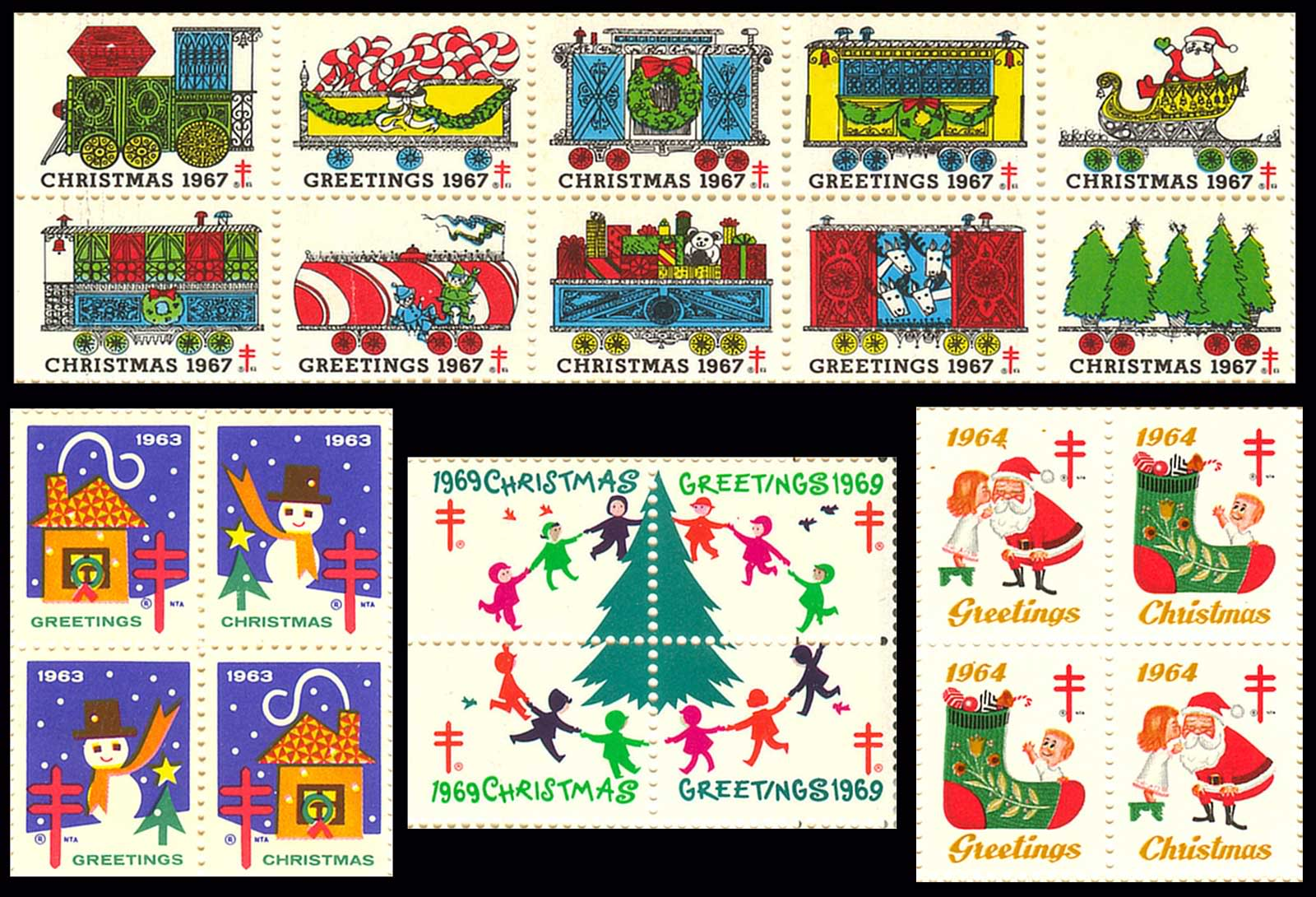 National Tuberculosis Association Christmas Seals - 1960's