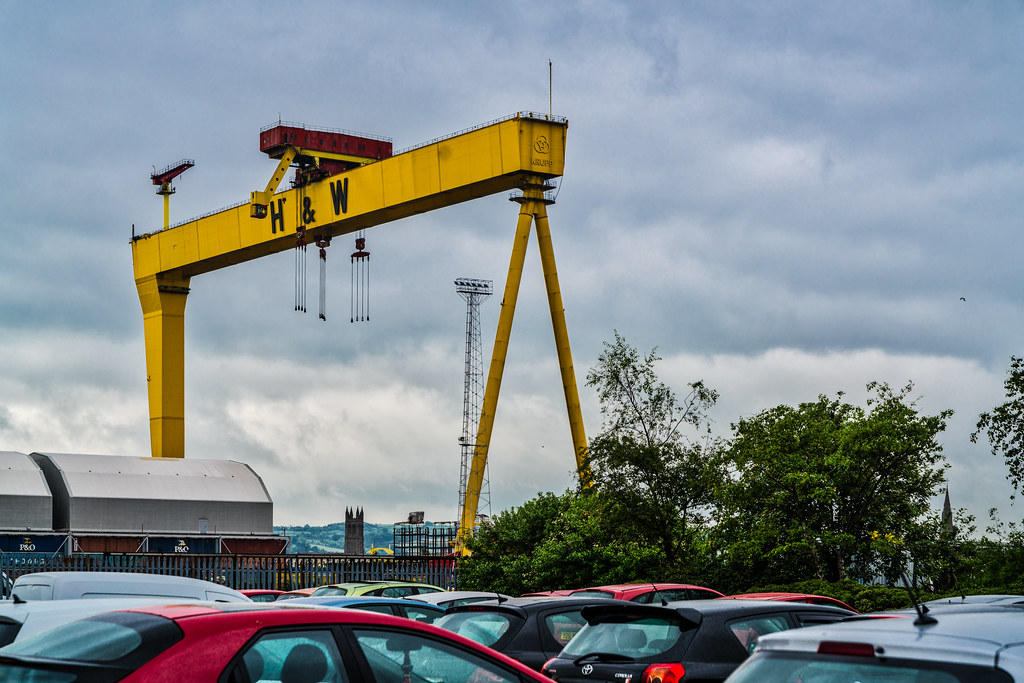 VIEW OF THE FAMOUS CRANES [SAMSON AND GOLIATH IN BELFAST] 006