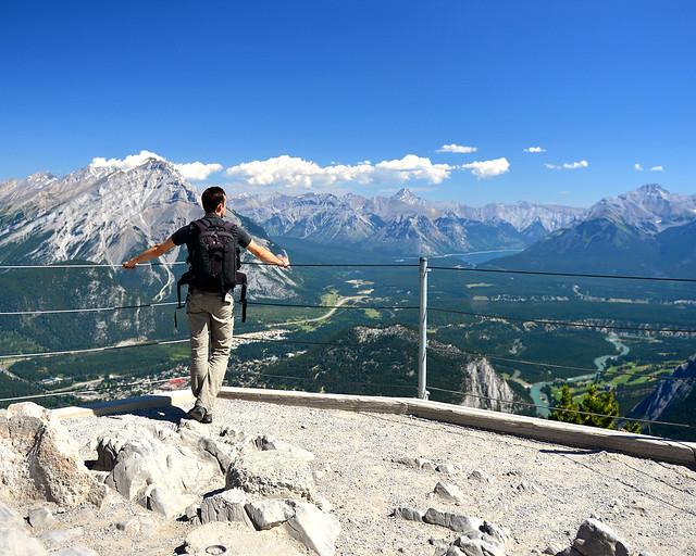 Banff al fondo, uno de los puntos más bonitos de la ruta por el Oeste de Canadá