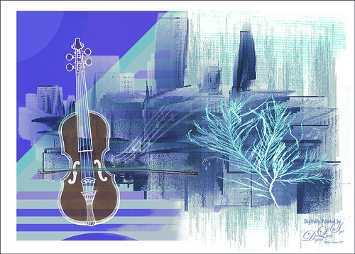 Image of violin and musical notes