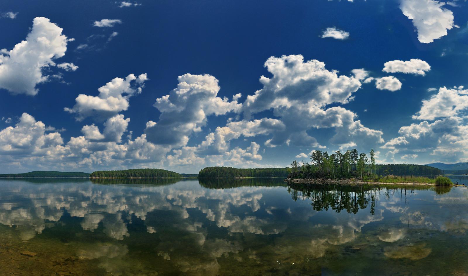 пейзаж озеро с облаками - фотограф Челябинск