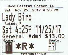 Lady Bird ticketstub