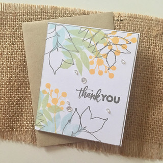 Wplus9 Autumn Leaves thank you card | by Kimberly Toney