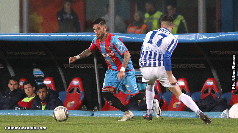Andrea Russotto in azione contro l'Akragas