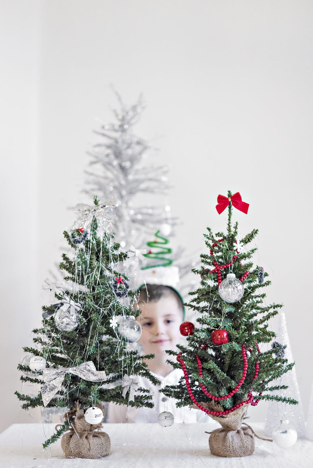 Decorate your own christmas tree station for kids in the know mom diy christmas tree station for kids solutioingenieria Image collections