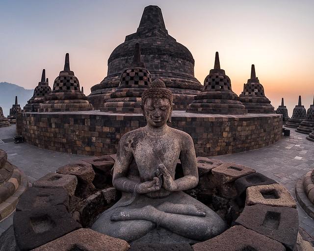 Uno de los templos de Indonesia más famosos