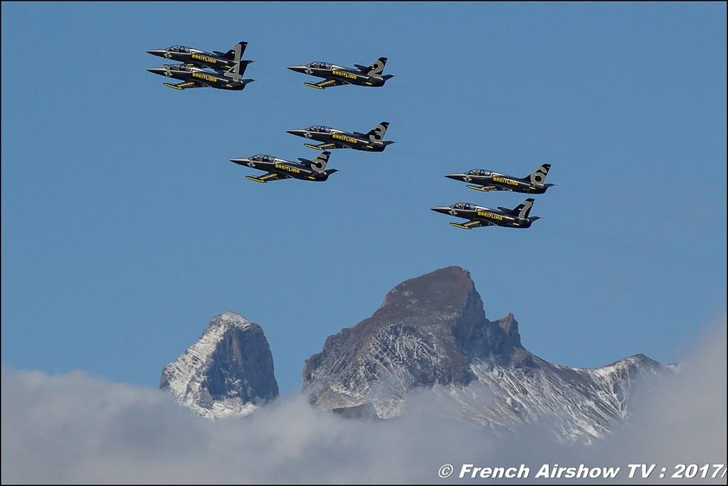 Breitling Jet Team , Patrouille Breitling , Breitling Sion Air Show 2017 , sion airshow , montagne , Alpes suisse , Canton du Valais , Meeting Aerien 2017
