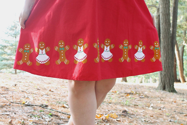 gingerbread man skirt