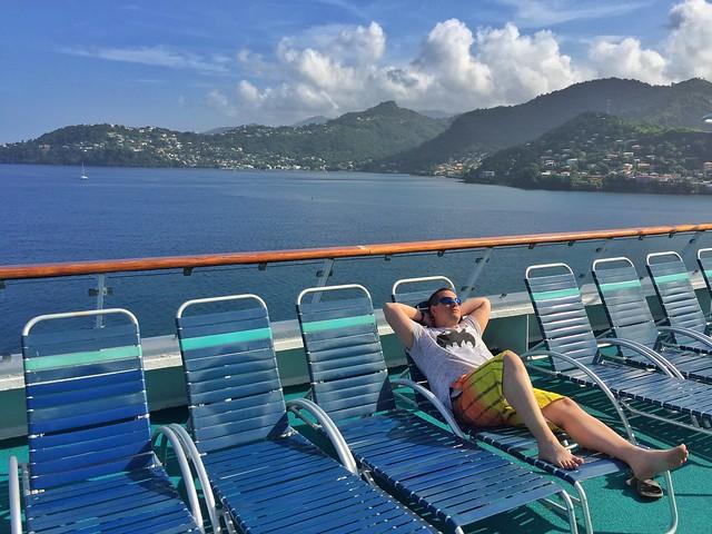 Sele en un barco de Pullmantur haciendo las islas del Caribe