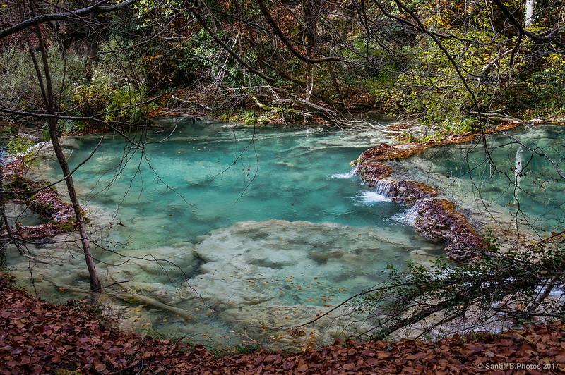 Gours en el río Urederra