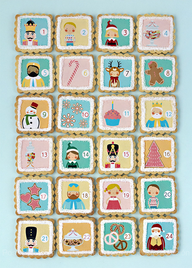 Calendario Adviento galletas