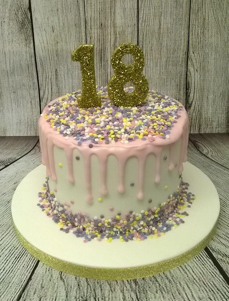 18th birthday cakes 18th Birthday Cake   Fondant covered vanilla sponge cake top…   Flickr 18th birthday cakes
