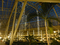 Opryland Hotel at night
