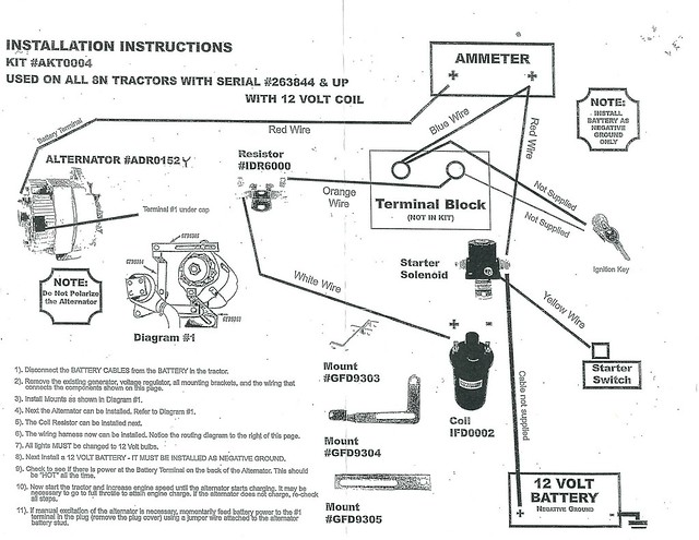8n Ford Tractor Wiring Diagram 12 Volt Database
