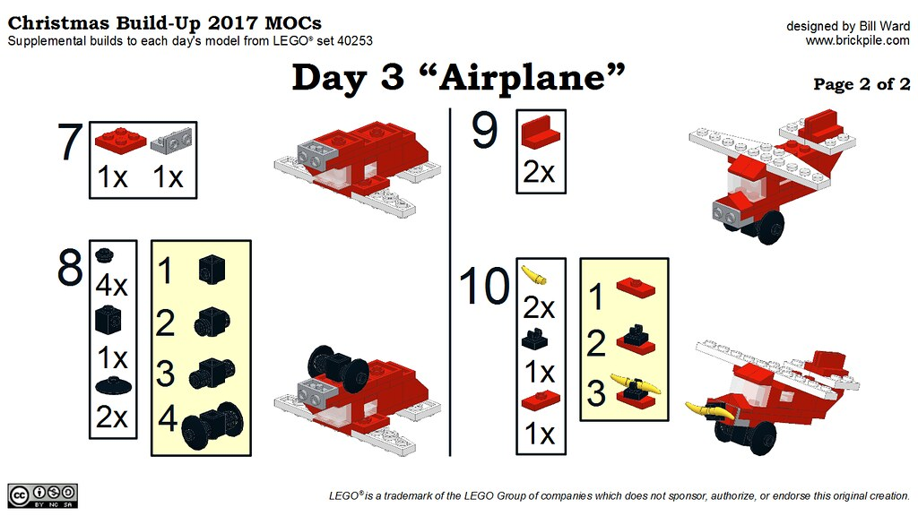 Christmas Build Up 2017 Day 3 Moc Airplane Instructions Flickr