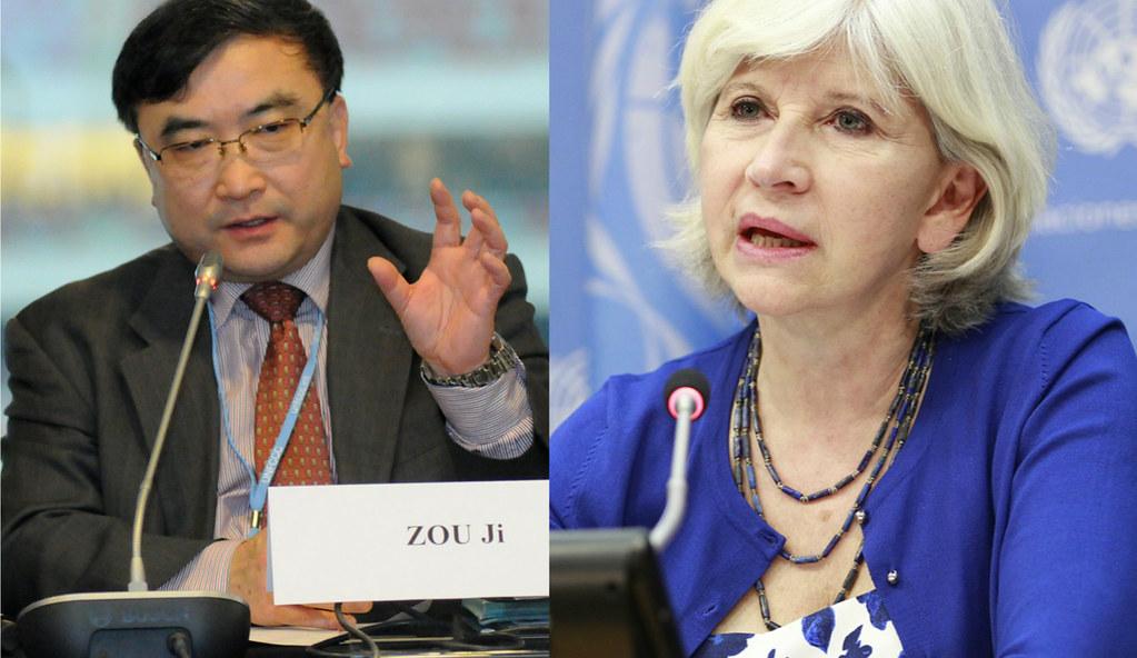 歐洲與中國的氣候談判專家:勞倫斯・圖比亞那(右)與鄒驥(左)。圖片來源:中外對話。