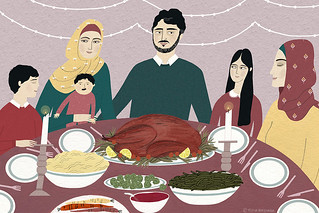 Syrian refugee family's first Thanksgiving | by ybryksenkova