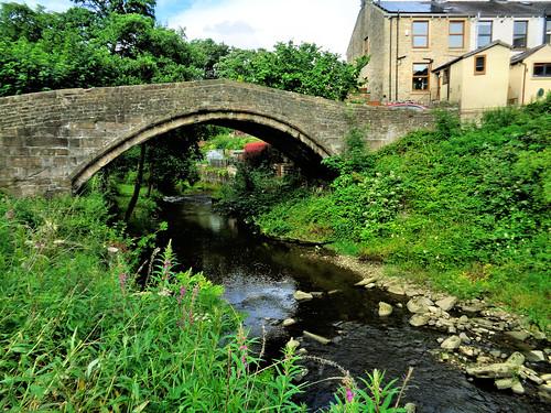 Bridge over Pendle Water in Higherford
