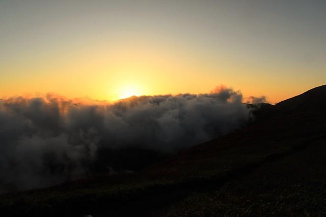 竜門小屋からの夕日