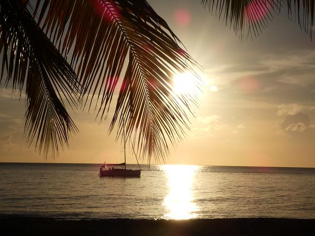 Atardecer en una playa de Barbados (Crucero a las islas del Caribe)