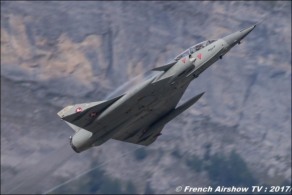 Mirage IIIs , Dassault Aviation , J-2012 , Mirage III DS , Breitling Sion Air Show 2017 , sion airshow , montagne , Alpes suisse , Canton du Valais , Meeting Aerien 2017
