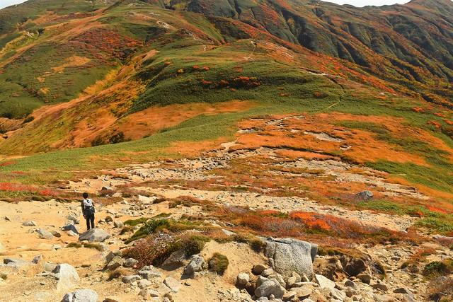 朝日連峰の稜線
