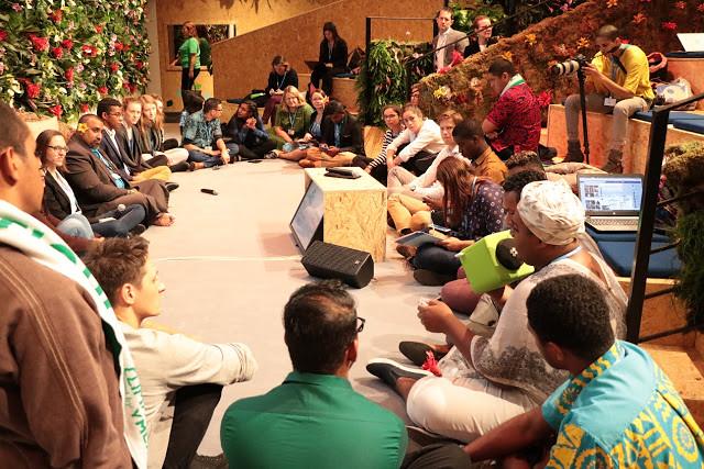 如同階梯教室的Talanoa Space,是青年朋友們最常聚集、討論的場地。
