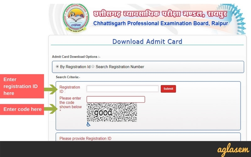 CG TET Admit Card 2018 by CGVYAPAM - Download Here