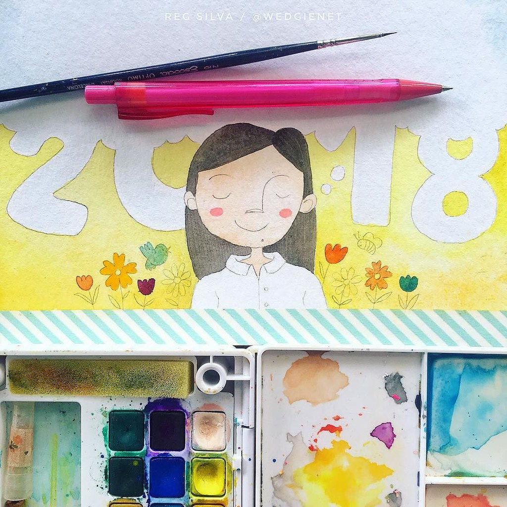 The beginnings of a vision board for my 2018 art goals and… | Flickr
