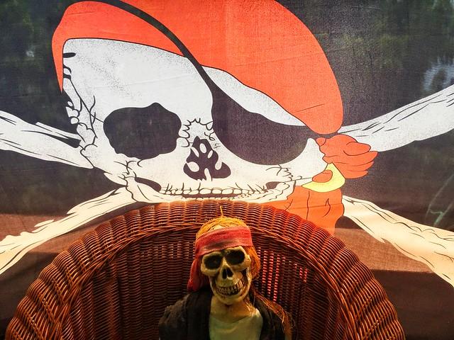 Imaginería pirata en la isla de San Vicente (Islas del Caribe en crucero)