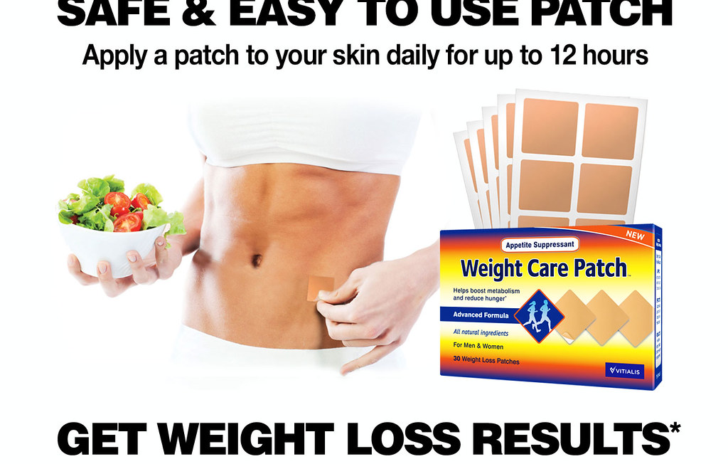100% NATURAL WEIGHT CARE PATCH APPETITE CONTROL WEIGHT LOSS DIET 30 PATCHES