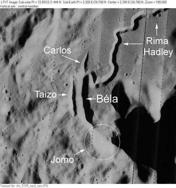 VCSE - A Béla-kráter a Holdon