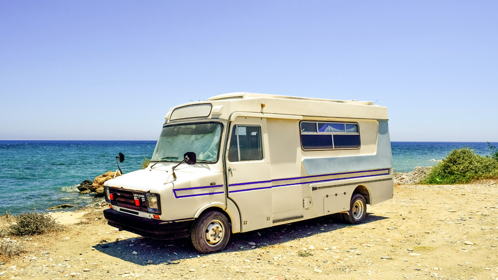 Leyland DAF based late 1980s or early 1990s caravan - United Kingdom