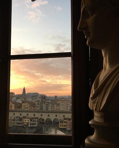 firenze From the Uffizi at sunset....