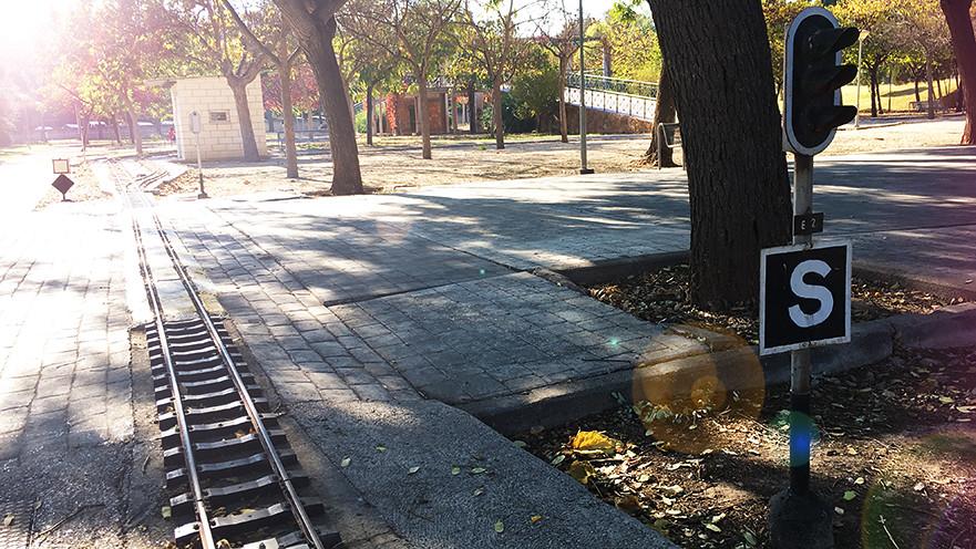 tren locomotora de La Granja Burjassot