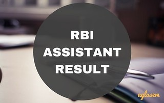RBI Assistant Result 2017 of Mains Declared: Check Result, Cut Off