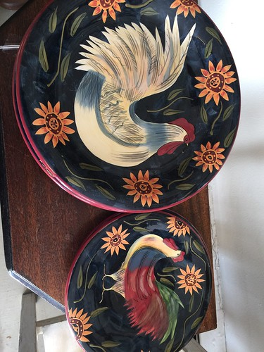 8 Rooster plates $40 | by Ellaway's Attic