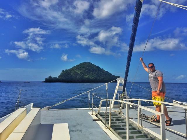 Sele en catamarán por las islas del Caribe