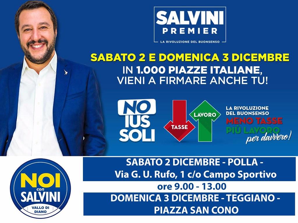 Cittadinanza: Salvini, già 100mila firme contro ius soli