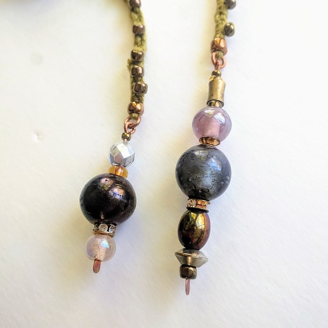 Beaded Dangles for lucet cord
