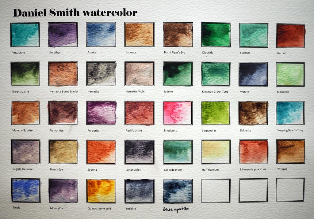 Daniel Smith Watercolor Chart Olympus Digital Camera Pb280 Flickr