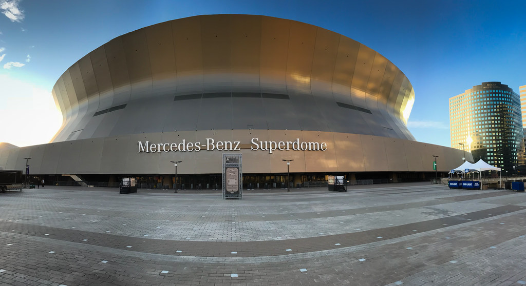 ... Panoramic View Of Mercedes Benz Superdome New Orleans LA | By Mbell1975
