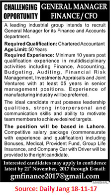 Industrial Group,General Manager,Lahore